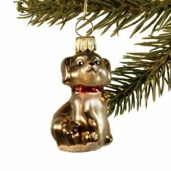 Glaskugle- Hund- halsbånd