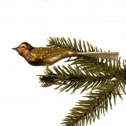 Glasfugl- Brun med guld vinger