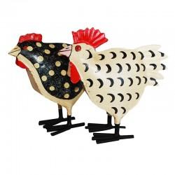 Plettede høns