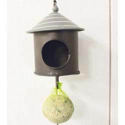 Fuglehus hænge grå