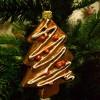 Glaspynt- Honningekagetræ- rødt pynt