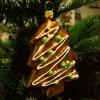 Glaspynt- Honningkagetræ- Grønt pynt