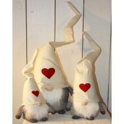 Filtnissesæt- hvid med hjerte